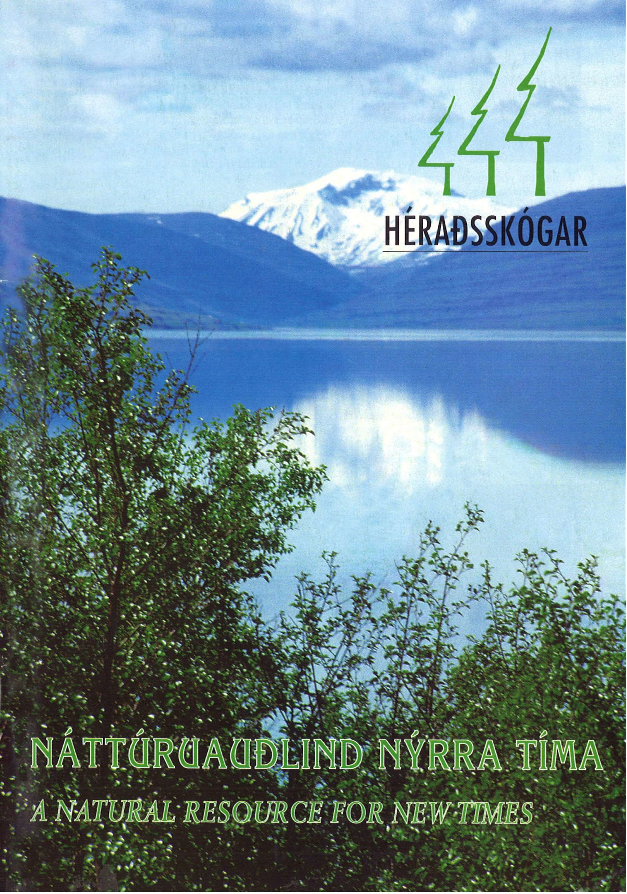 Front cover of the brochure Héraðsskógar - A Natural Resource for New Times