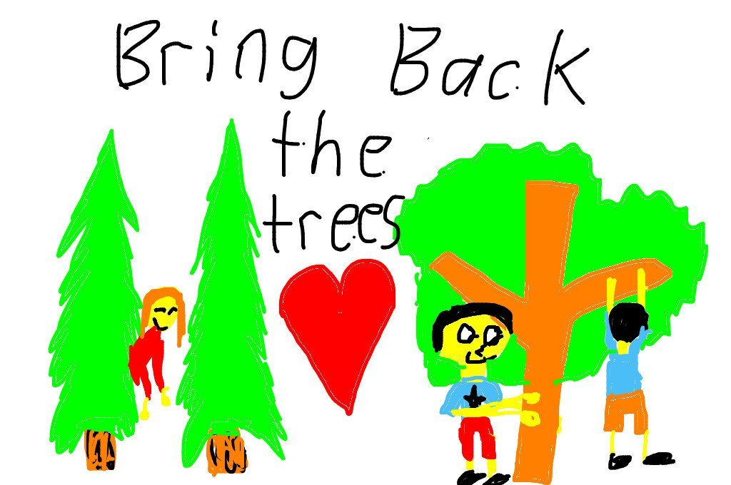 Bring back the trees! Thanks for your nice picture Lydia and News-O-Matic!